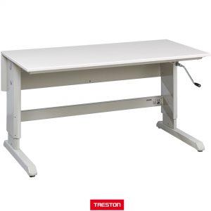 Werkplaats-shop Treston handcrank werktafel met zwengelverstelling Treston
