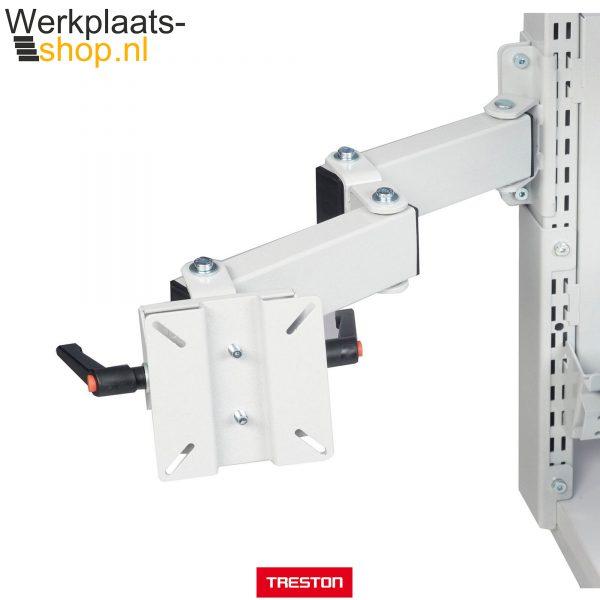 Treston LCD beeldscherm houder op zwenkarm voor bevestiging aan werktafel of inpaktafel