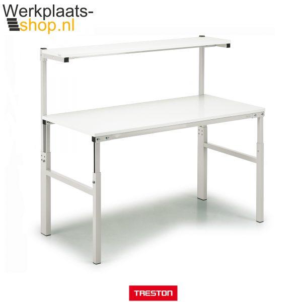 Treston TPH werktafel met instelbaar legbord, uitermate geschikt voor productie en inpak werkzaamheden - Werkplaats-shop.nl