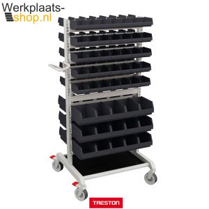 Treston trolley combinatie 1 met opslagbakken - Werkplaats-shop.nl