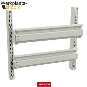 Treston strip voor opslagbakken aan een werktafel of inpaktafel - werkplaats-shop.nl