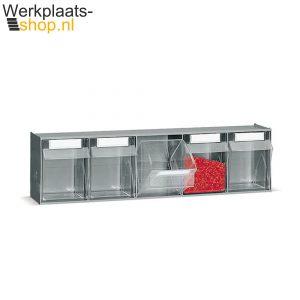 Fami Kantelbak element met 6 bakken - handig voor opslag van kleine onderdelen - Werkplaats-shop.nlFami Kantelbak element met 5 bakken - handig voor opslag van kleine onderdelen - Werkplaats-shop.nl