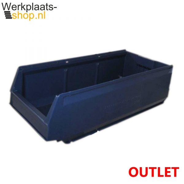 Schoeller Arca stapelbare container 9069 blauw restpartij - Outlet