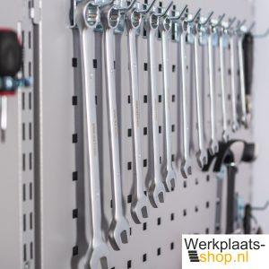 Sovella fipro geperforeerd bord met gereedschapshaken voor wandrek - werkplaats-shop.nl