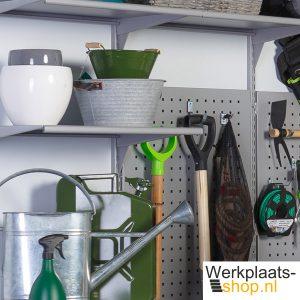 Sovella fipro wandrails en dragers met accessoires voor tuingereedschap - werkplaats-shop