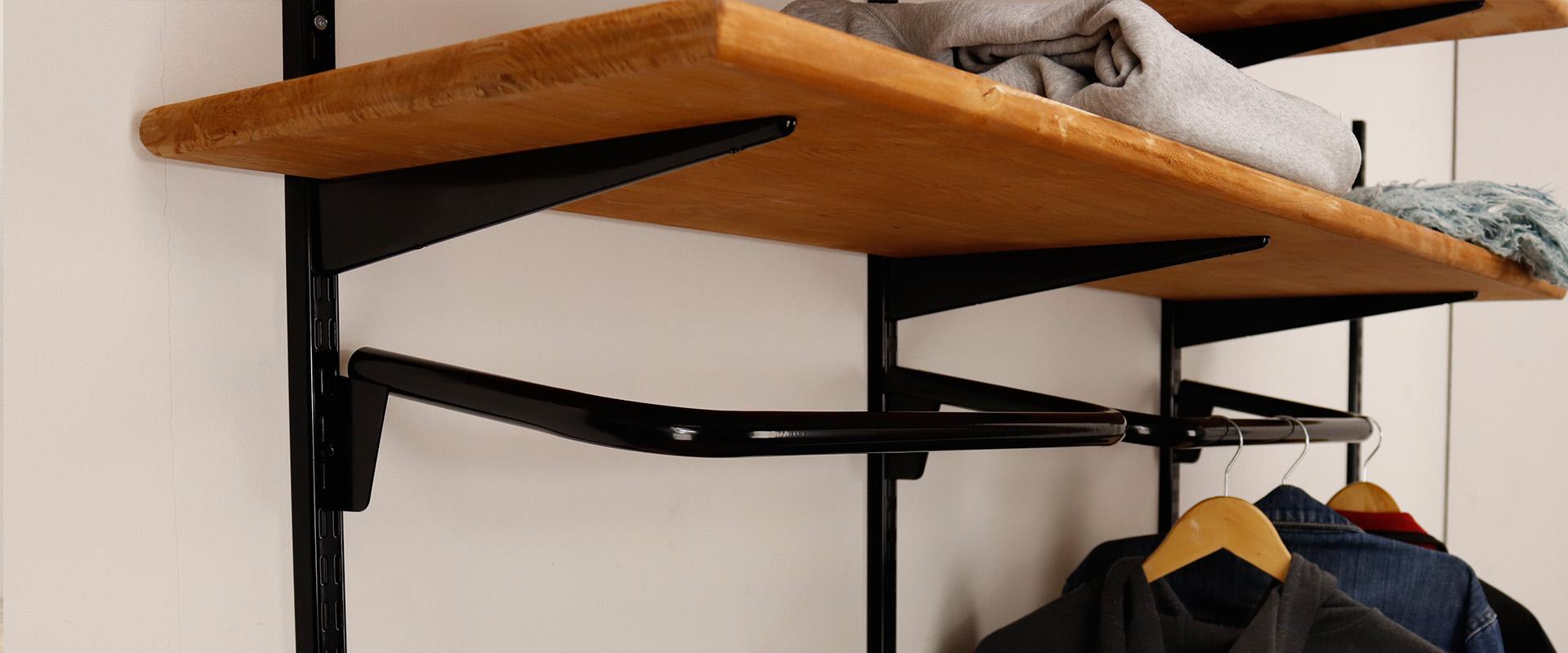 Sovella fipro wandrails zijn te combineren met steigerhout of meubelpanelen.