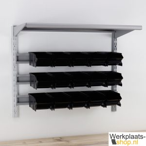 Sovella fipro wandrek met bakkenstrips en plank - werkplaats-shop.nl