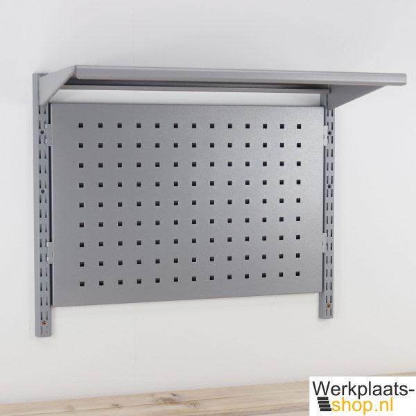 Sovella modulair wandrek met geperforeerd bord en legbord