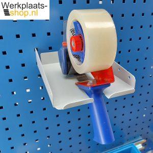 Werkplaats-shop.nl Treston ASSA5PP taperolhouder aan gereedschapsbord van een werktafel