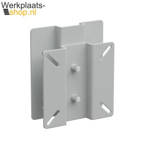 Werkplaats-shop.nl Treston Beeldschermhouder aan gereedschapsbord van een inpaktafel of werktafel