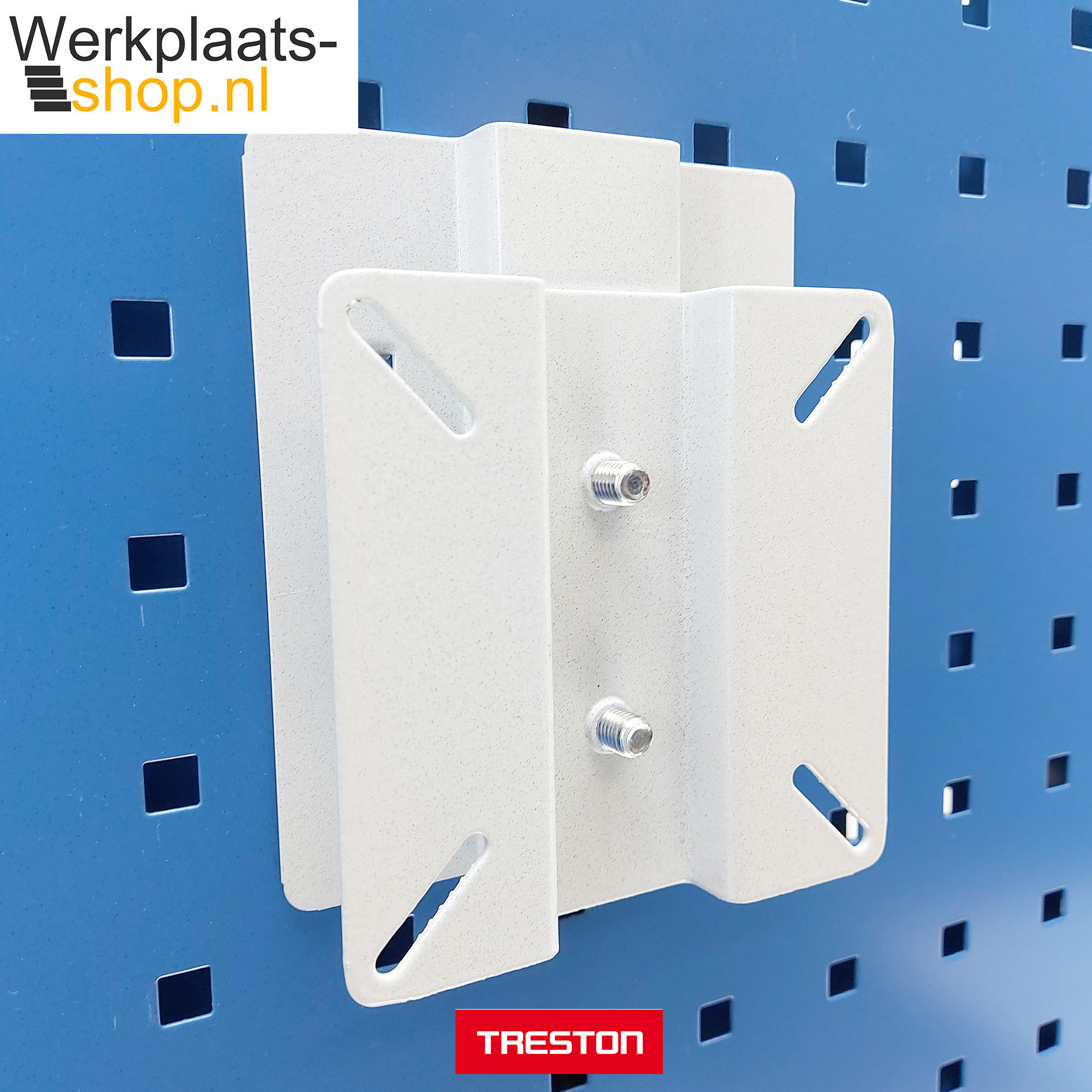 Werkplaats-shop.nl Treston LCD houder op gereedschapsbord voor het bevestigen van een informatiescherm